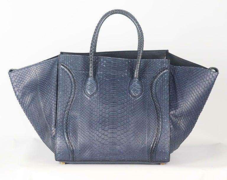 Women's Celine Medium Python Phantom Luggage Tote Bag For Sale