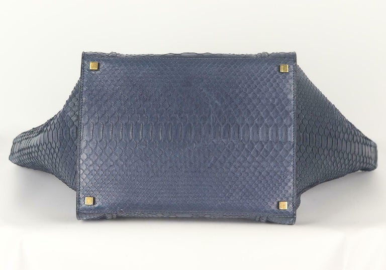 Celine Medium Python Phantom Luggage Tote Bag For Sale 1