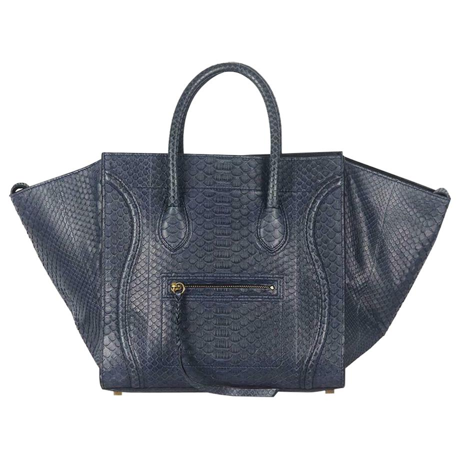 Celine Medium Python Phantom Luggage Tote Bag