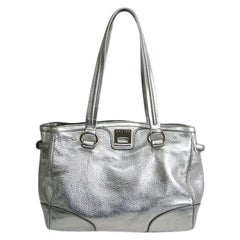 Celine Metallic Calfskin Leather Tote