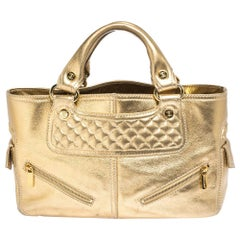 Celine Metallic Gold Leather Boogie Tote