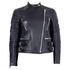 CELINE midnight blue leather BIKER Jacket 38 S