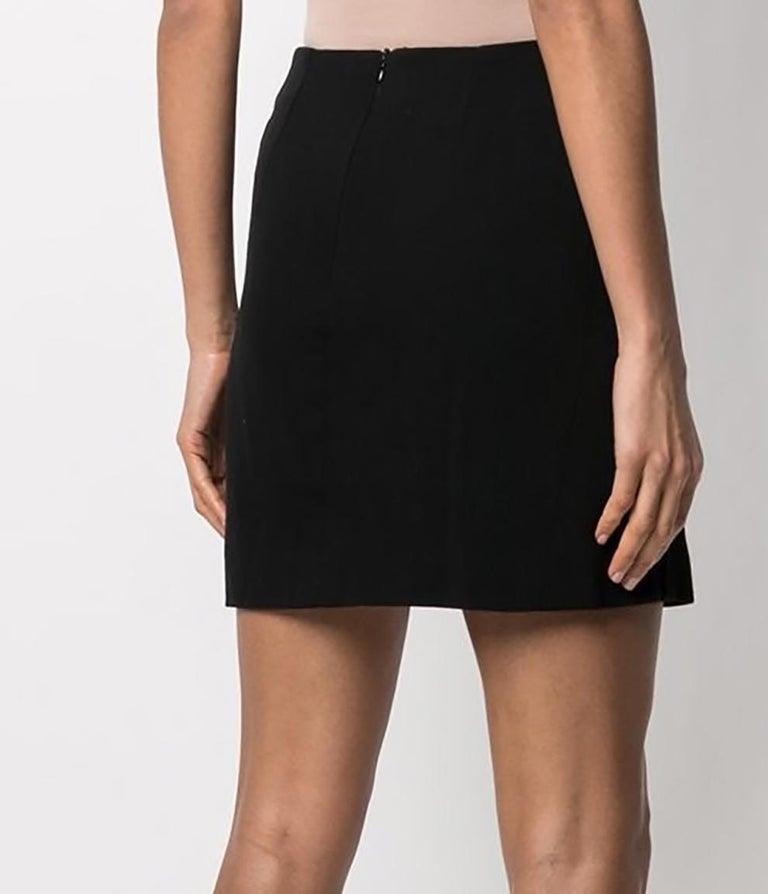 Celine Mini Black Wool Short Skirt  For Sale 1