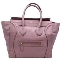 Celine Mini Luggage Bag In Soft Lilac Leather