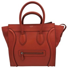 Celine Mini Luggage Tote - Vermillon