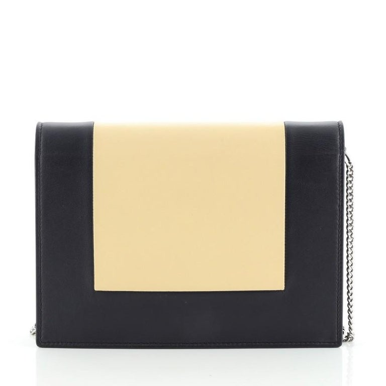Celine Model: Frame Evening Clutch on Chain Leather In Good Condition For Sale In New York, NY