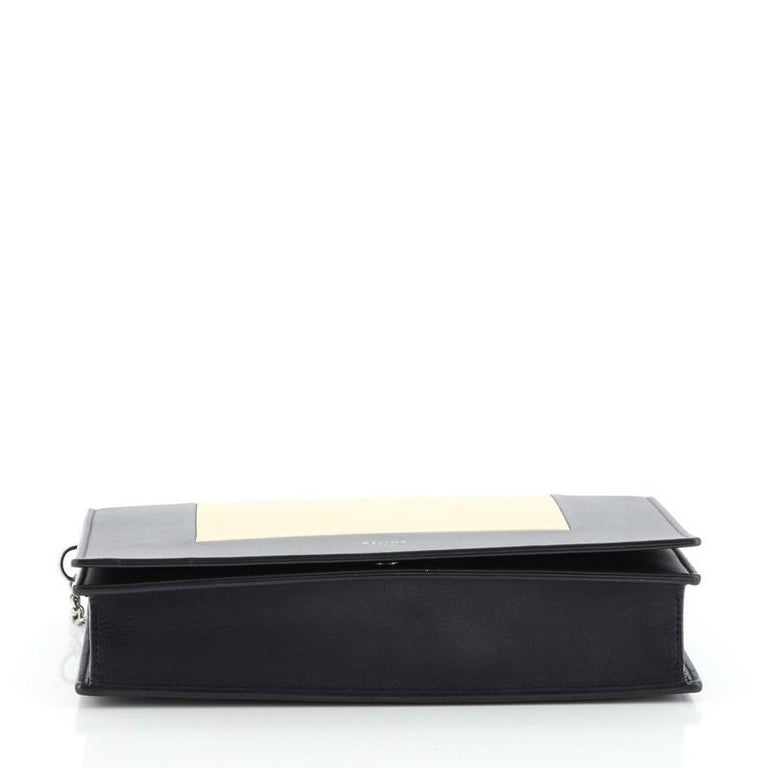 Women's or Men's  Celine Model: Frame Evening Clutch on Chain Leather For Sale