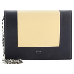 Celine Model: Frame Evening Clutch on Chain Leather