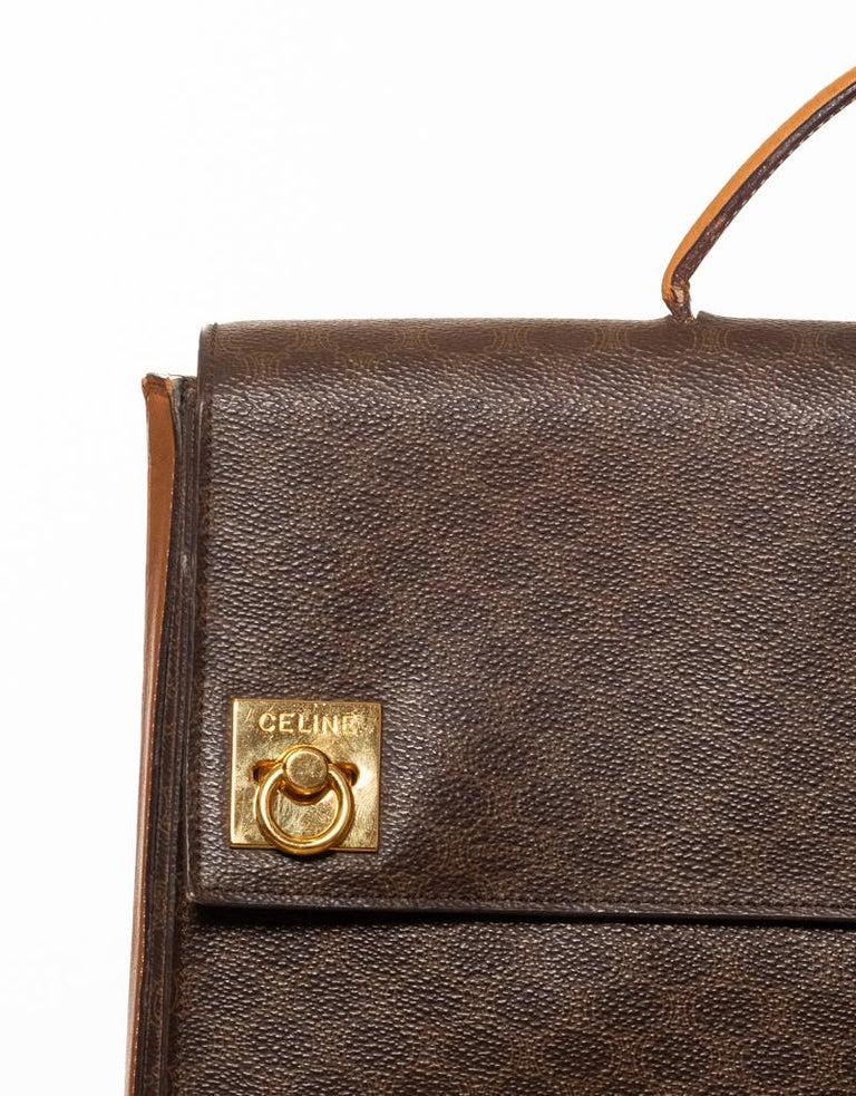 Women's or Men's Celine Monogram Brown Leather Briefcase  Bag