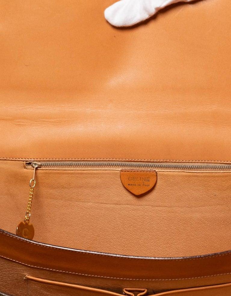 Celine Monogram Brown Leather Briefcase  Bag 1