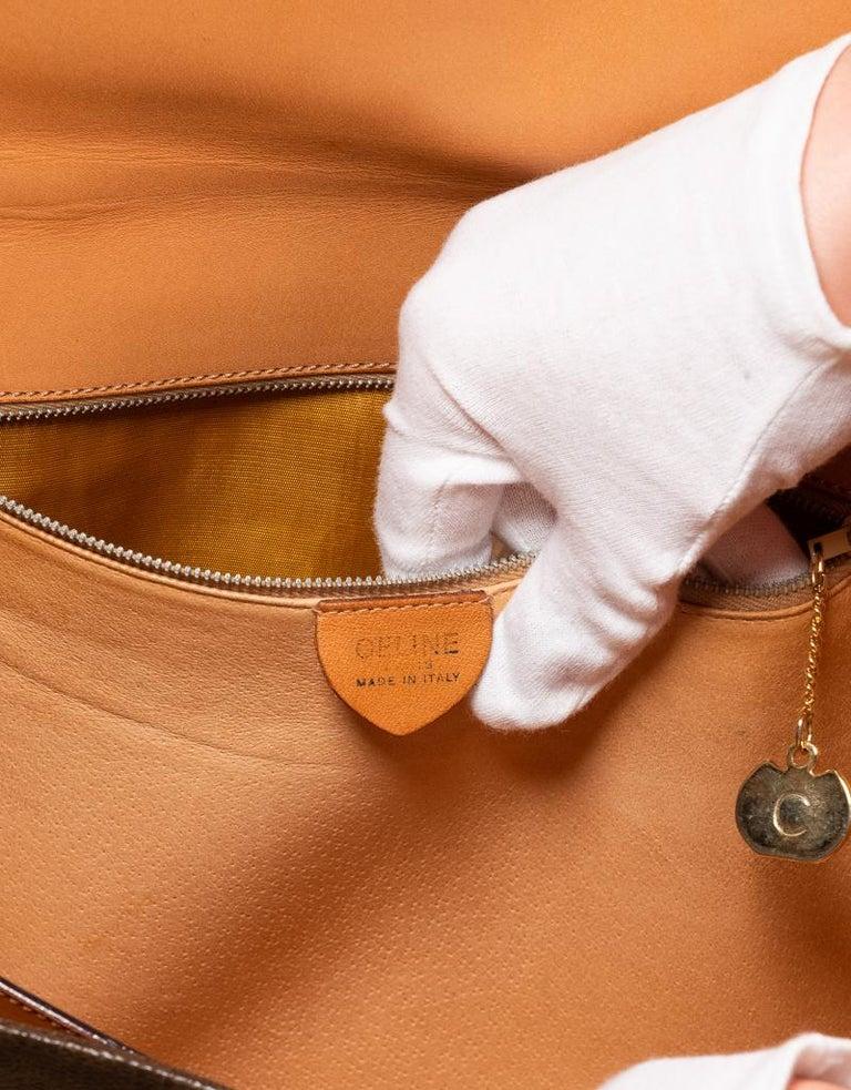 Celine Monogram Brown Leather Briefcase  Bag 2