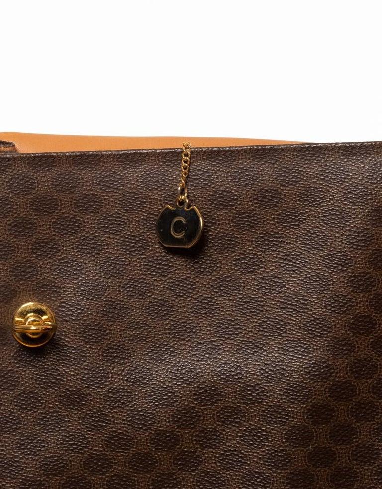 Celine Monogram Brown Leather Briefcase  Bag 4