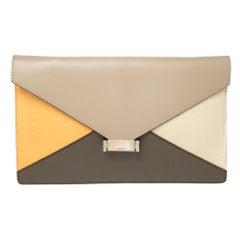 Celine Multicolor Calfhair and Leather Diamond Clutch