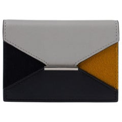 Celine Multicolor Leather and Calfhair Diamond Card Case