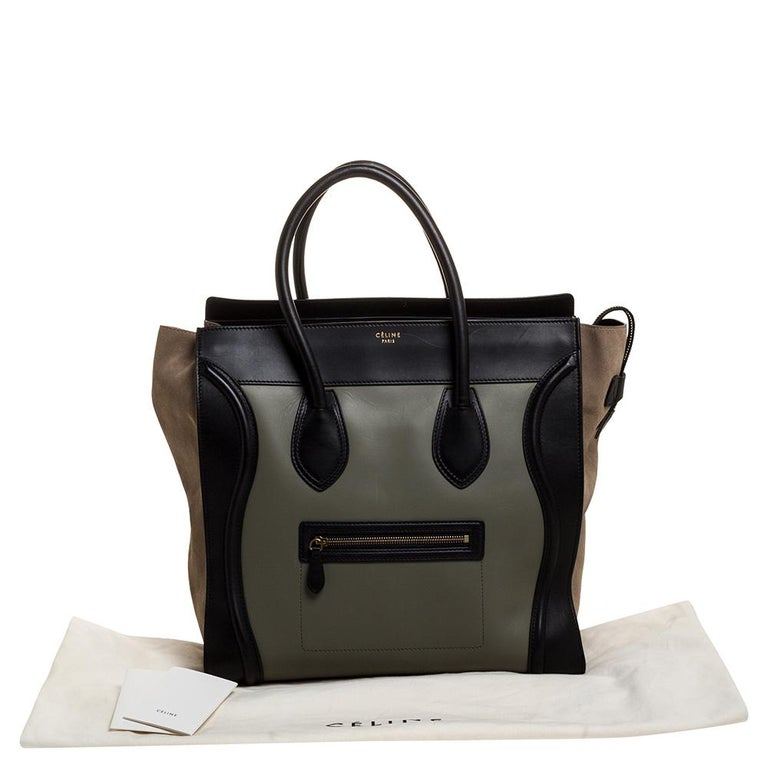 Celine Multicolor Leather and Suede Medium Luggage Tote 7