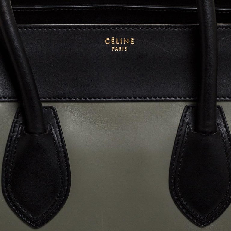Celine Multicolor Leather and Suede Medium Luggage Tote 1