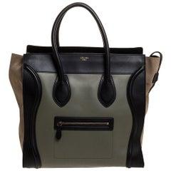 Celine Multicolor Leather and Suede Medium Luggage Tote