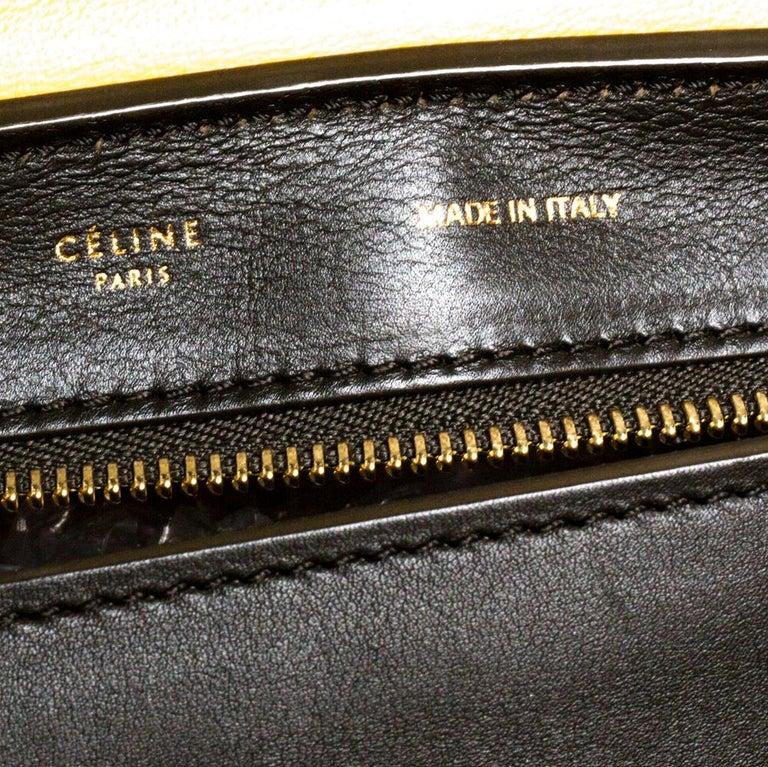 Celine Multicolor Leather and Suede Medium Trapeze Bag For Sale 5