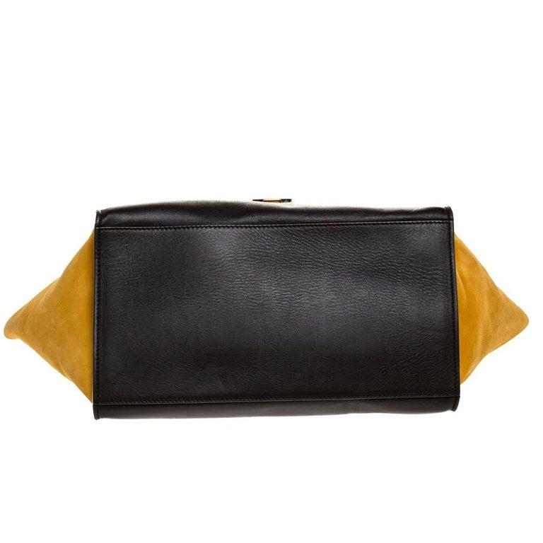 Women's Celine Multicolor Leather and Suede Medium Trapeze Bag For Sale