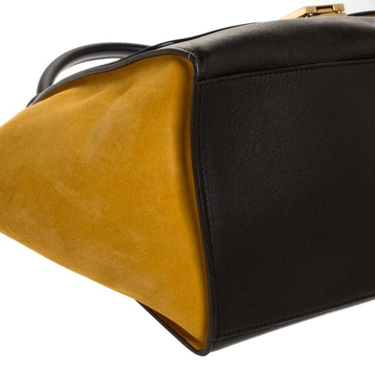 Celine Multicolor Leather and Suede Medium Trapeze Bag For Sale 1