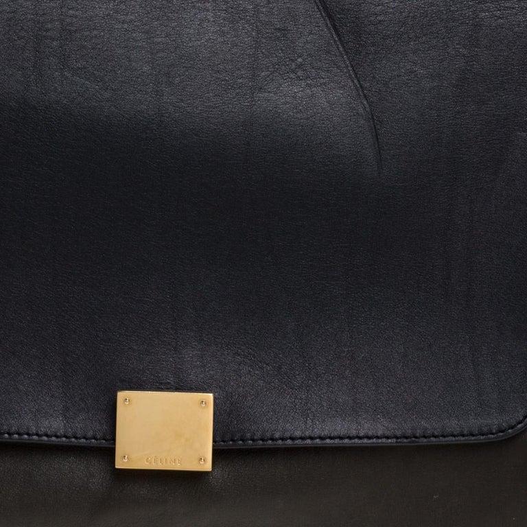 Celine Multicolor Leather and Suede Medium Trapeze Bag For Sale 2
