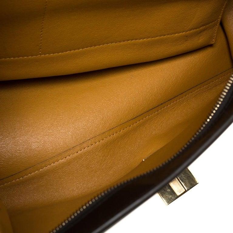Celine Multicolor Leather and Suede Medium Trapeze Bag For Sale 4