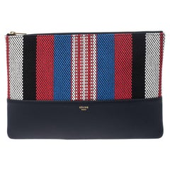 Celine Multicolor Leather and Woven Solo Clutch