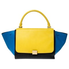Celine Multicolor Leather Medium Trapeze Bag