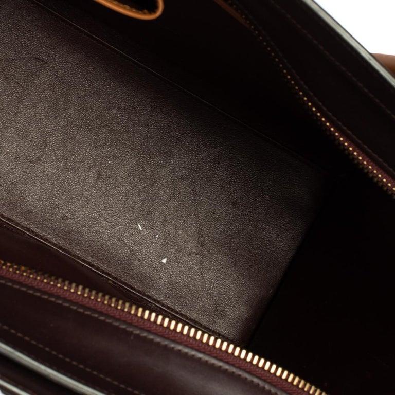 Celine Multicolor Leather Micro Luggage Tote For Sale 8