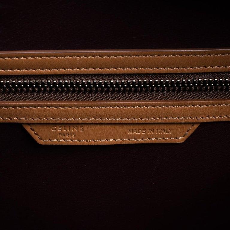 Women's Celine Multicolor Leather Micro Luggage Tote For Sale