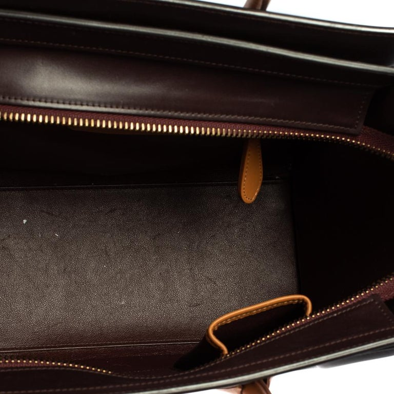 Celine Multicolor Leather Micro Luggage Tote For Sale 1