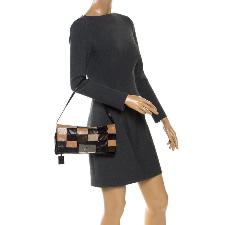 Black Celine Multicolor Leather Watch Me Dance Clutch Bag For Sale