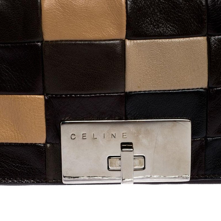 Celine Multicolor Leather Watch Me Dance Clutch Bag For Sale 1