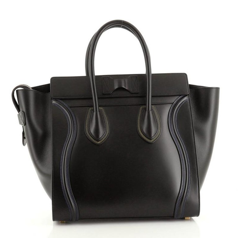 Celine Multicolor Luggage Bag Leather Mini In Good Condition For Sale In New York, NY
