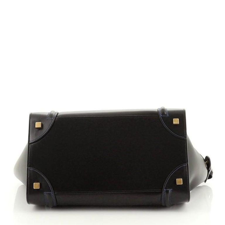 Women's or Men's Celine Multicolor Luggage Bag Leather Mini For Sale