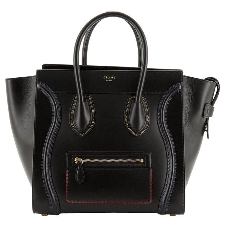Celine Multicolor Luggage Bag Leather Mini For Sale