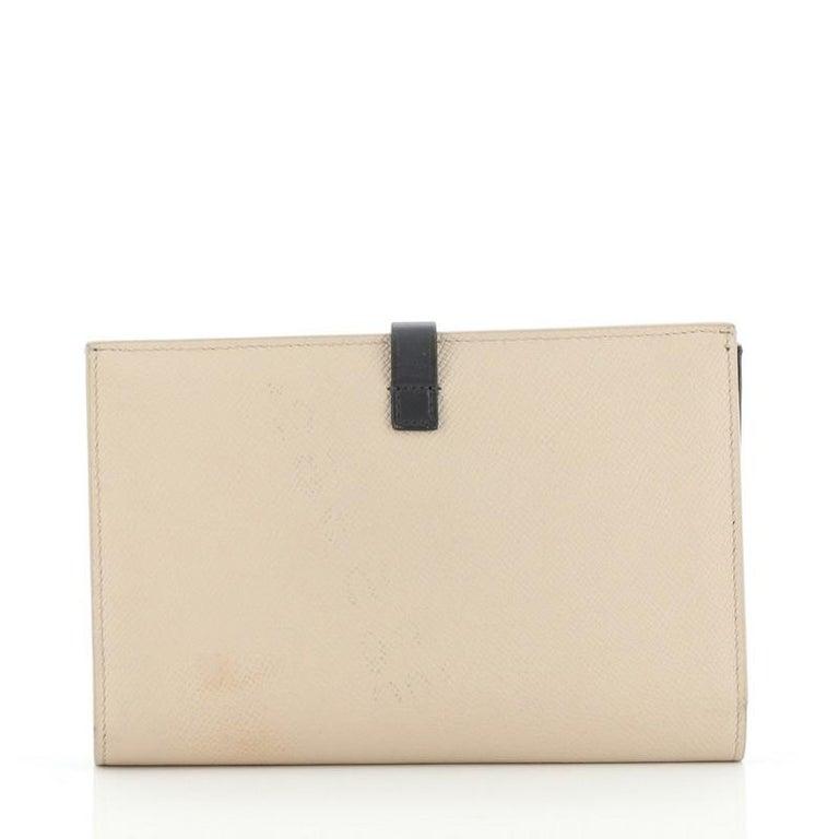Beige Celine Multifunction Strap Wallet Leather Large For Sale