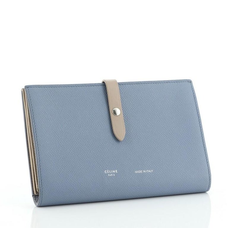 Gray Celine Multifunction Strap Wallet Leather Large For Sale
