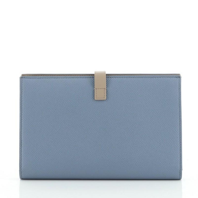 Celine Multifunction Strap Wallet Leather Large In Good Condition For Sale In New York, NY
