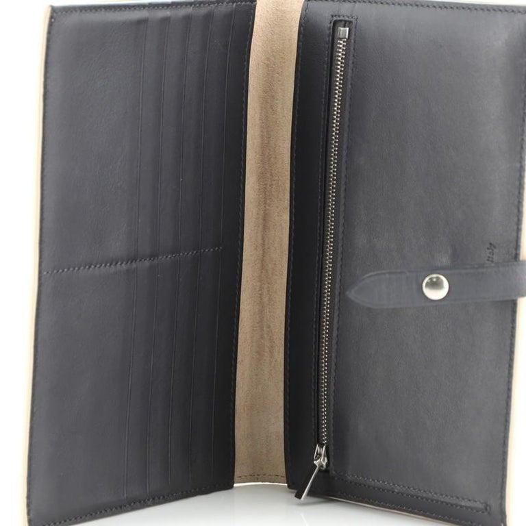 Women's or Men's Celine Multifunction Strap Wallet Leather Large For Sale
