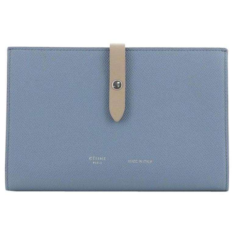Celine Multifunction Strap Wallet Leather Large For Sale