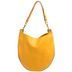 Celine Mustard Leather Medium Hobo