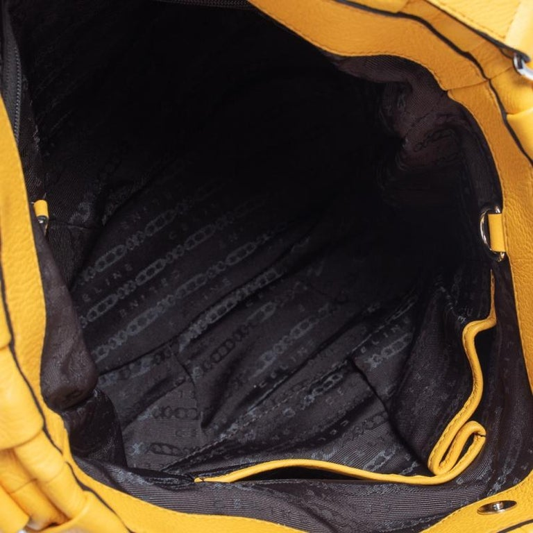 Celine Mustard Leather Tote For Sale 6