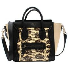 Celine Nano Luggage Black & Beige Tote