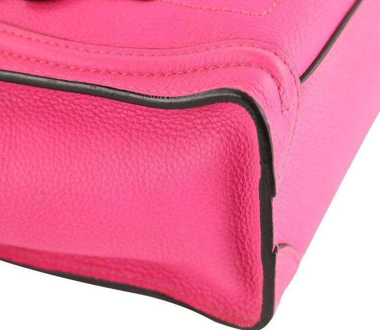 Women's or Men's Céline Nano Luggage Tote Pink Leather Cross Body Bag