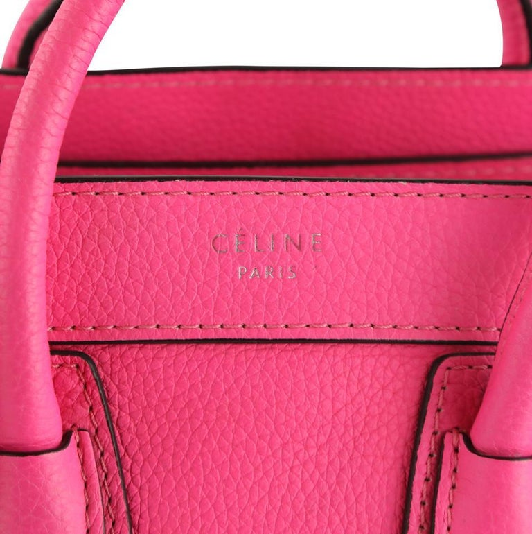 Céline Nano Luggage Tote Pink Leather Cross Body Bag 1