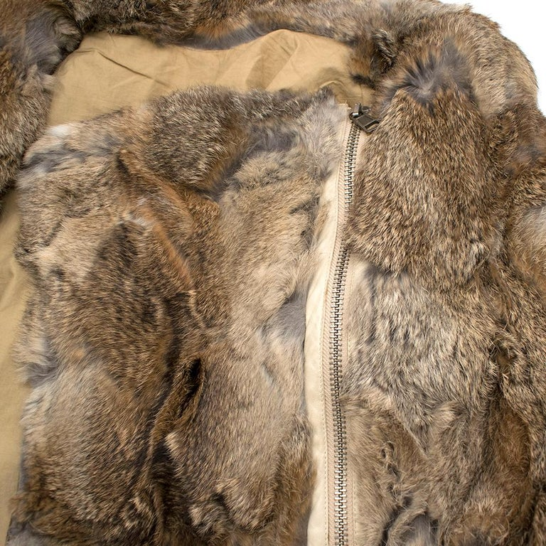 Celine Natural Rabbit Fur Longline Coat 42 FR In New Condition For Sale In London, GB
