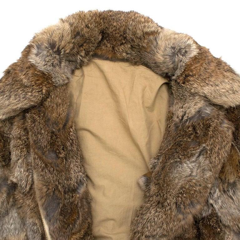 Women's or Men's Celine Natural Rabbit Fur Longline Coat 42 FR For Sale