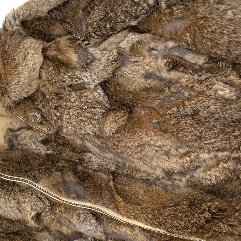 Celine Natural Rabbit Fur Longline Coat 42 FR For Sale 1