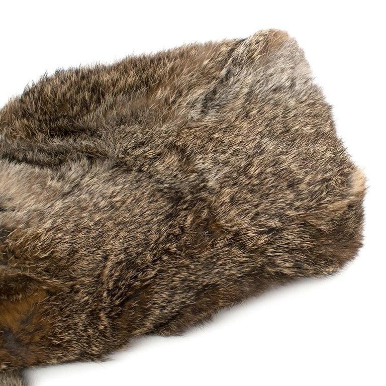 Celine Natural Rabbit Fur Longline Coat 42 FR For Sale 2